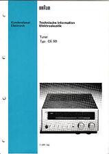 Service Manual-Anleitung für Braun CE 501