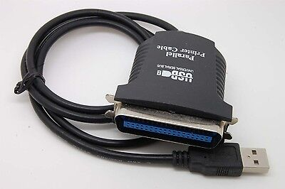 New DB25 25 Pin USB to Female Parallel IEEE 1284 Printer Adapter c39