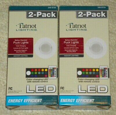 Vriendelijk Patriot Lighting 2 Pack - Color Changing Led Puck Lights W/ Remote Control (x2) Fijn Verwerkt