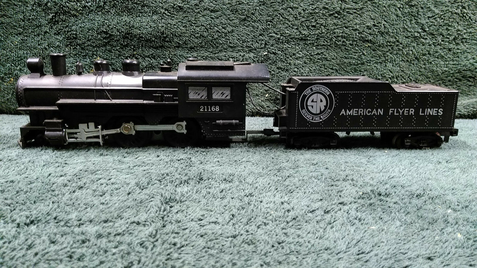 AMERICAN FLYER 21168 SOUTHERN STEAM LOCO & TENDER 4-4-0 RECENTLY SERVICED