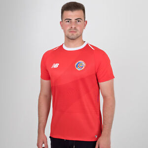 New Balance Mens Costa Rica 2018 Home Short Sleeve Football Shirt ... ba94a5261