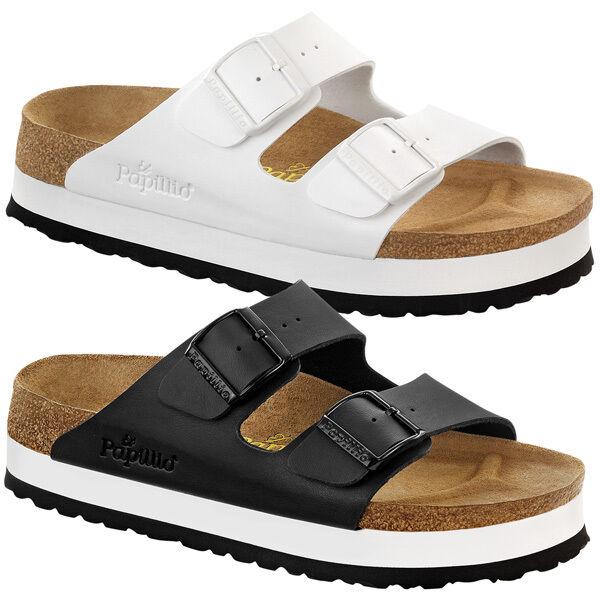 Birkenstock Papillio Arizona Birko-Flor Damen Schuhe Platform Sandale Pantolette