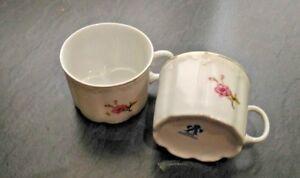 2 tasses porcelaine VINTAGE - France - État : Occasion : Objet ayant été utilisé. Objet présentant quelques marques d'usure superficielle, entirement opérationnel et fonctionnant correctement. Il peut s'agir d'un modle de démonstration ou d'un objet retourné en magasin aprs un - France
