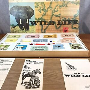 VINTAGE-wildlife-Board-Game-Spears-Games-complete-Box-In-Ok-Condition