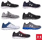 Under Armour Men's Micro G Assert 6 Running Sneakers Shoes Black Navy Steel NEW
