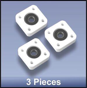 Compact quality CNC 8mm 4 bolt square flange bearing block - 3pcs FREE SHIPPING