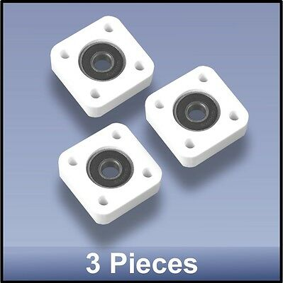 Compact Quality CNC 8mm 4 Bolt Square Block Flange  Bearing Block  - 3 pieces
