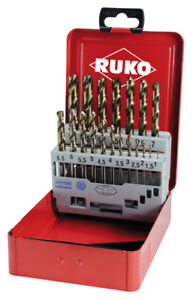 RUKO-19pcs-Cobalt-Drill-Bit-Set-1-10-0mm-HSSE-Co5-Type-VA-MADE-IN-GERMANY