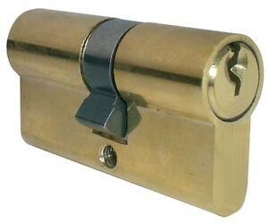 cilindro Lucchetto per porta per serrature in ottone lucido  varie lunghezze