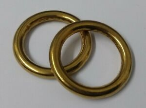 "Genuine British Army Horse Guards & H Cav 1 1/4"" Brass Bridle Rings 1 Pair STD19"