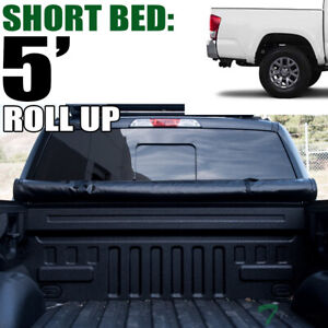 Topline For 2016-2021 Toyota Tacoma 5 Short Bed Lock Roll Up Vinyl Tonneau Cover