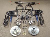 Mustang 2 Front Suspension Kit Manual Drop Spindles Ford Rotors 5/8 Narrow