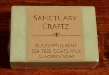 Eucalyptus Mint Tea Tree Aromatherapy Goats Milk Glycerine Soap 4 for $19.95