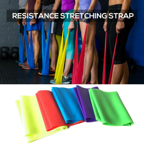 CA Resistance Elastic Fitness Band Rubber Yoga Gym Strength Training Bands Loop