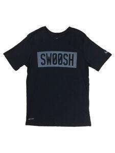 Nike-Mens-Dri-Fit-Big-Swoosh-Block-Graphic-Shirt-Black-Grey-New