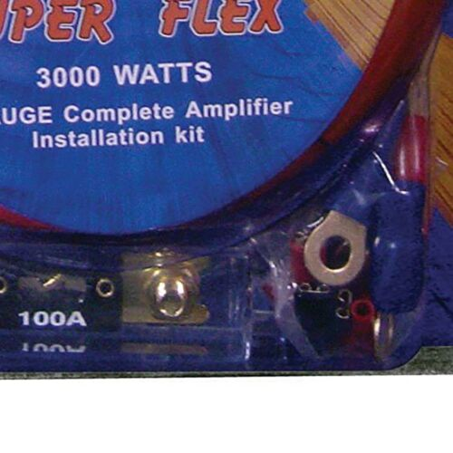 Q Power Super Flex 4 Gauge 3000 Watt Amplifier Wiring Amp Kit4GAMPKIT-SFLEX