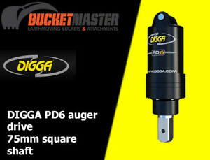 DIGGA-PD6-AUGER-DRIVE-UNIT-TO-SUIT-SKID-STEER-LOADER-POSITRACK-amp-EXCAVATOR