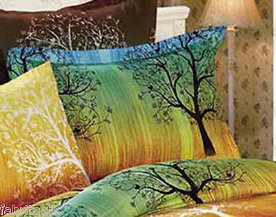 Pair of RAINBOW TREE Standard Pillowcases New
