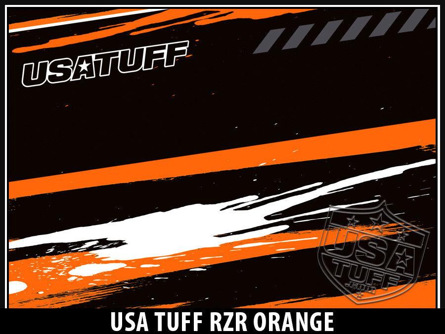 USATuff Custom Cooler Decal Wrap fits YETI Tundra 125qt FULL SxS RZR SxS FULL Orng 3ec668
