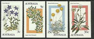 AUSTRALIA-1986-ALPINE-FLOWERS-Booklet-Stamps-Set-of-4v-MNH