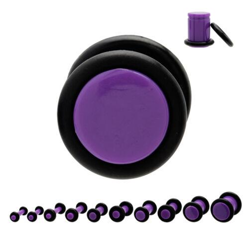 Piercing plug tunnels ecarteur expander violet de 1.6 mm à 8 mm