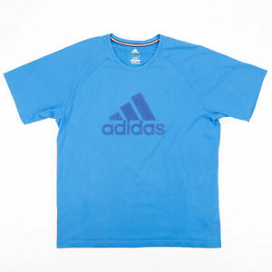 ADIDAS Blue 00s Crew Neck Short Sleeve T-Shirt Mens L