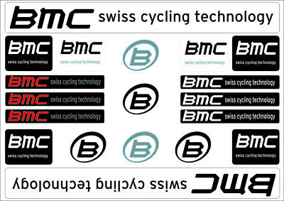 Stickers BMC Swiss Bike Frame BDC MTB Various Colors Easy to apply no bubbles