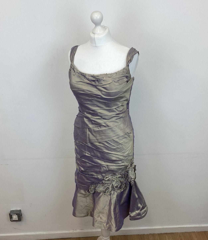 Ian Stuart Mother Of The Bride Dress Lilac Gold Sz 12 US / 14 UK Ladies