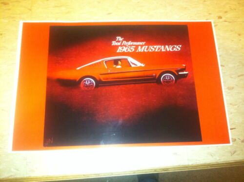 Vintage 1965 Ford Mustang Advertisement Poster Man Cave Gift Art Decor Z807