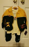 3 Piece Winnie The Pooh Tigger Athletic Track Jacket Suit Outfit Set 4t