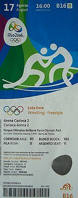 Sports Memorabilia Rio 2016 Lower Price with Ticket 17/8/2016 Olympic Games Rio Wrestling Freestyle # B16 Diversified Latest Designs