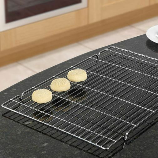 2 Large Wire Cake Cakes Biscuit Baking Bakery Cool Cooling Tray Trays Racks Rack