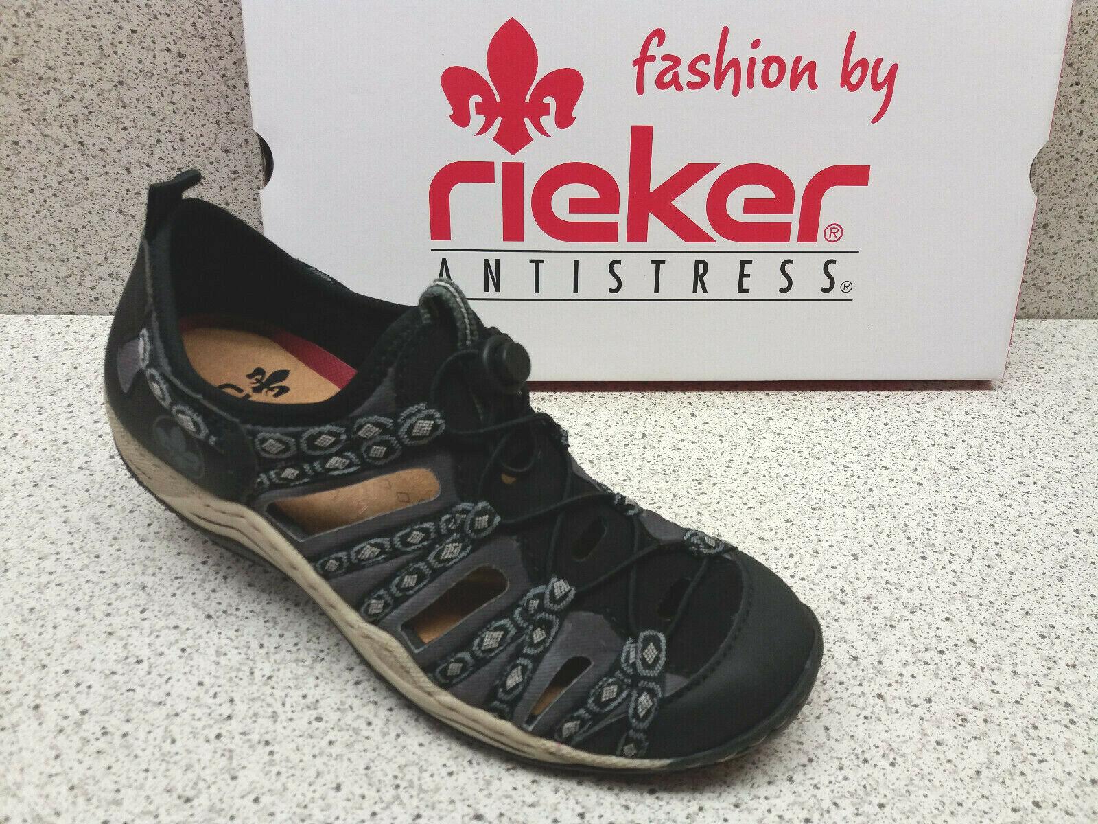 Rieker ® Top Preis rotuziert Sport Slipper superbequem   (R515)