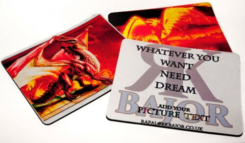 MOUSE MATS WITH Your Picture Computer PHOTO GIFT BIRTHDAY FIRST CLASS QUALITY
