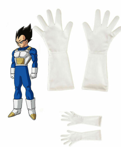 OriginalDragon Ball Z Vegeta Cosplay Costume White Glovesn Hallowee Accessories