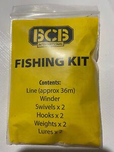 BCB Liferaft Survival Fishing Kit Line Winder Hooks Weight Lures