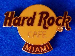 Miami-Estilo-Clasico-Naranja-Logo-Hard-Rock-Cafe-Pin-Hrc-Cuadricula-Espalda-2LC