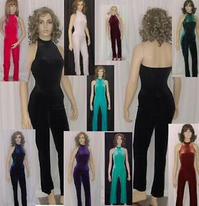 2cb264a41e1 Image is loading Mock-Turtleneck-Jumpsuit-Dance-Costume-Catsuit-Clearance- Color-