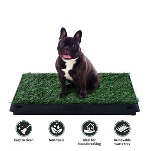 Pet-Potty-Puppy-Dog-Toilet-Mat-Tray-Training-Grass-Pad-Pee-House-Indoor-Outdoor