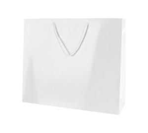 LARGHEZZA 41CM GRANDE 5 BIANCO LUCIDO Boutique Paper Carrier Bags con maniglie corda
