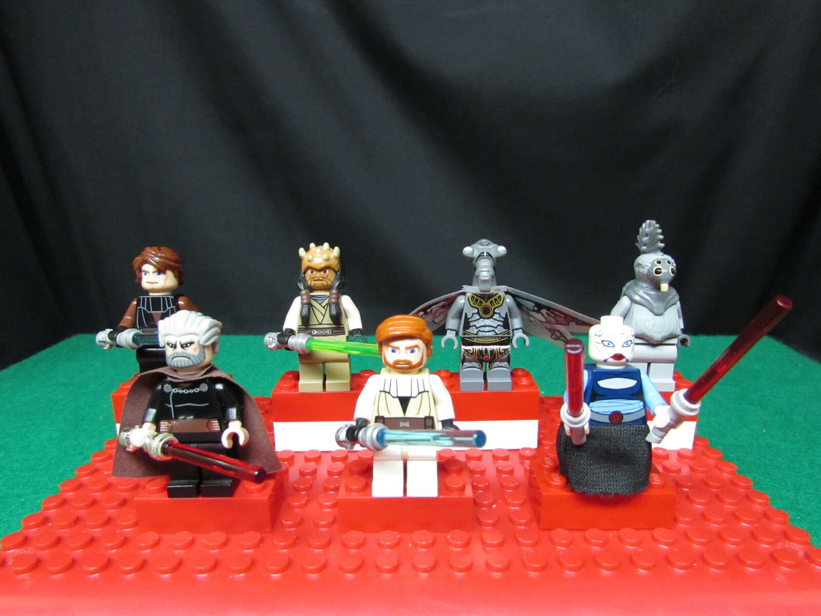 Lego Star Wars  The Clone Wars  Lot of 7 Minifigures (Dooku,Ventress,Koth)