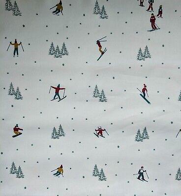 Sophie Allport Winter Skiing Fabric Offcut Remnant Fat Quarter 50 x 50cm