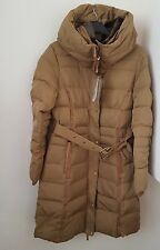 ZARA CAMEL LONG WATER REPELLENT FEATHER DUCK ANORAK COAT BNWT SIZE L