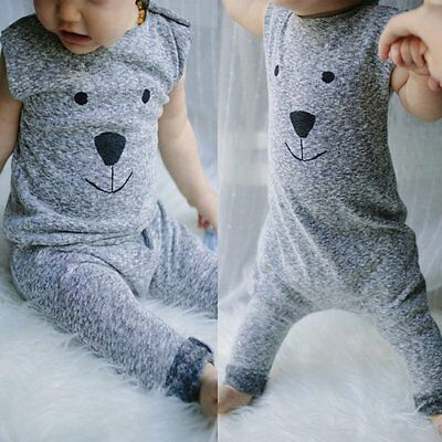 Cute Toddler Kids Newborn Baby Boy Girl Romper Jumpsuit Bodysuit Outfits Clothes