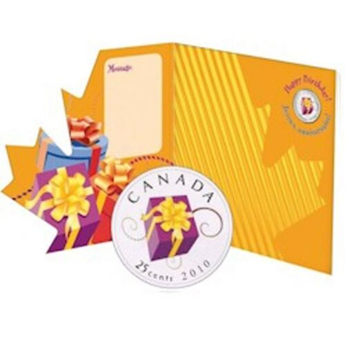 2010 Canada Birthday Gift Set with Unique 25 Cent Piece!!
