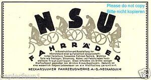 Velo-NSU-la-publicite-de-1926-Neckarsulm-Publicite-Ad-bicycle-bike