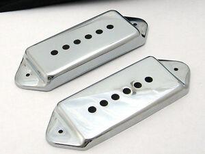 Allparts P90 Dog Ear Pickup Covers Set De 2 Nickel Pièces 0739-001-afficher Le Titre D'origine Performance Fiable