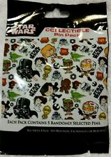 Disney Star Wars Cuties Mystery Collectible Pin Pack (5 Pins)  FREE SHIP
