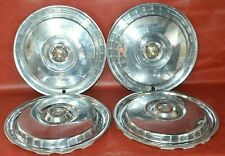 1955 56 Ford Crown Victoria Fairlane Thunderbird Hubcaps 15 Wheel Covers Set 4
