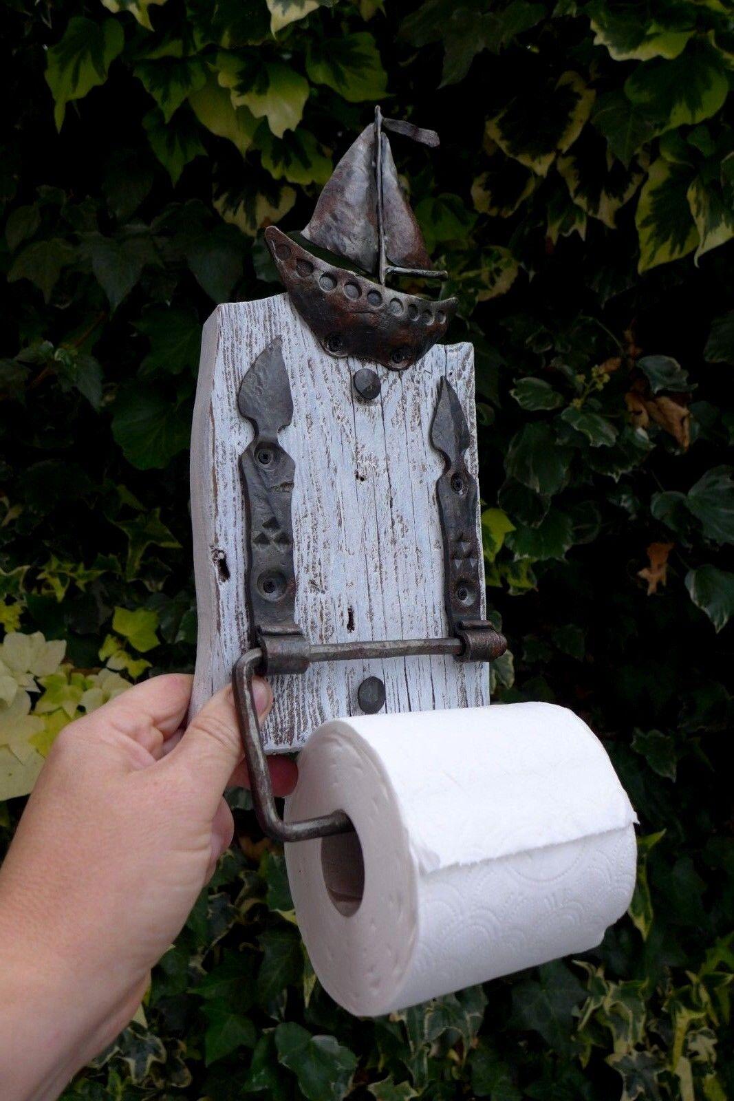 Rollo de papel higiénico titular hecho a mano por Herrero Lancha Barco muy singular diseño 01-01
